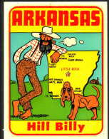 1950´s Decal (autocollant)  Arkansas  HILL  BILLY - Stickers