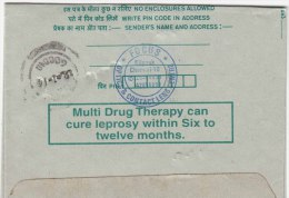 """Used,  Inland Letter, """"Multi Drug Thereapy For Leprosy"""", Health, Disease, Medicine, Pharmacy,  Postal Stationery, - Maladies"""