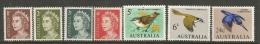 Australia   1966   Sc#394-7, 400-1, 409    7 Diff QEs & Birds To The 24c   MLH*   2016 Scott Value $4.70 - 1966-79 Elizabeth II