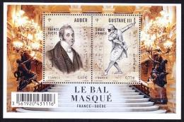 French Stamp In 2012 And Sweden MediaTek Sheetlet Daniel Auber New Opera - Musique