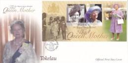 Tokelau 2002 The Queen Mother 1900-2002 MS FDC - Tokelau