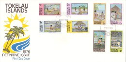 Tokelau 1976 Islands Definitives Set Of 8 FDC - Tokelau