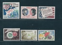 Monaco Timbres De 1962 N°575 A 580  Neuf Petite Charnière - Monaco