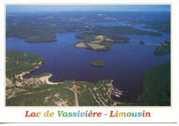 Lac De Vassiviere Limousin Aérienne (debaisieux) Histoire Moulin Barrage Auphelle Escale Crozat (art Contemporain) - Autres Communes