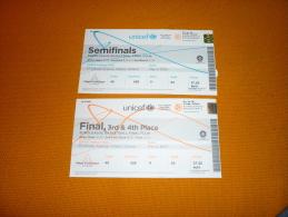 Basketball Euroleague Final Four Athens 2007 Match Ticket Tickets Panathinaikos CSKA Moscow Tau Ceramica Unicaja Malaga - Match Tickets
