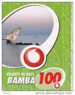 Kenya, Bamba 100, Special / Small Card, Boat, Expiry : 31-01-2011. - Kenya