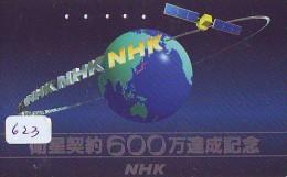 Télécarte Japon SATELLITE (623) ESPACE * TERRESTRE * TELEFONKARTE * Phonecard JAPAN * - Espacio