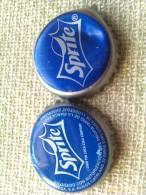 Lote 2 Chapas Kronkorken Caps Tappi Sprite. Coca Cola. España - Capsules & Plaques De Muselet