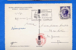 Flamme Temporaire MONACO Expo Canine Internationale F.C.I. 29 30 Mars 1972 MONTE CARLO - Perros