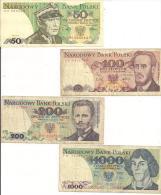 BANK POLSKI, 50-100-200-1000 - Pologne
