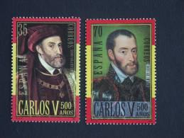 België Belgique Belgium Spanje Espagne Espagna 2000 Carolus Quintus Carlos V Karel V 3697-3698 Mi 3530-3531 MNH ** - Emissions Communes
