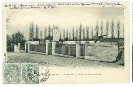 FRANCIA - FRANCE - CHAMPIGNY - RUE DU MONUMENT - CARTOLINA  - VIAGGIATA - Champigny