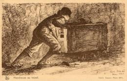 Hiercheuses. Mines (Charbonnages). Belgique - Mijnen