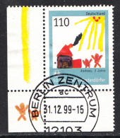 ALLEMAGNE Mi.nr.2062 SOS-Kinderdörfer 1999 OBLITÉRÉS-USED-GEBRUIKT - [7] République Fédérale