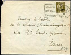 FRANCE - TYPE PAIX - N° 298, OBL. DAGUIN FLAMME DE NANTUA LE 21/1/1935, POUR PARIS - TB - 1932-39 Paz