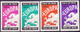 10974# CALF OF MAN ISLE OF MAN EUROPA 1965 CARTE DE L EUROPE MAP TIMBRES NEUFS ** - Local Issues