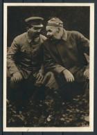 1945 Czechoslovakia STALIN & MAXIMA GORKEHO Propaganda Postcard - Politicians & Soldiers