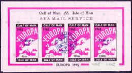 11008# CALF OF MAN ISLE OF MAN SEA MAIL SERVICE EUROPA 1966 CARTE DE L EUROPE MAP BLOC NEUF ** - Local Issues