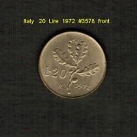 ITALY    20  LIRE  1972  (KM # 97.2) - 20 Lire