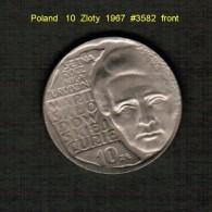 POLAND    10  ZLOTY  1967  (Y # 59) - Polen