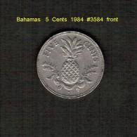 BAHAMAS    5  CENTS  1984  (KM # 60) - Bahamas