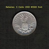 BAHAMAS    5  CENTS  2000  (KM # 60) - Bahamas