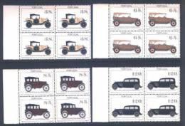 Portugal Musée Voitures Anciennes Dont 1922 Cïtroen 1992 X 4 ** Old Cars Museum Incl. 1938 Mercedes Benz 1992 X 4 ** - Nuevos