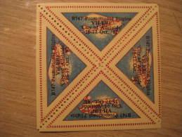 Promotional Flights VH-EBF City Of ADELAIDE Block 4 Triangle Poster Stamp Label Vignette AUSTRALIA - Other