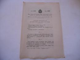 MINISTERO DELLE COLONIE NORME RELATIVE ALLA COSTITUZIONE  REGIO DECRETO 1912 - Décrets & Lois
