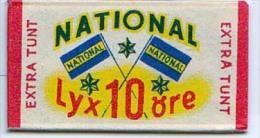 RAZOR BLADE RASIERKLINGE NATIONAL LYX 10 Ore  EXTRA TUNT - Razor Blades