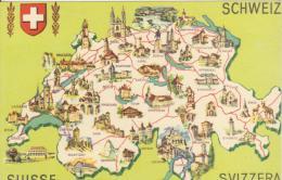 Suisse  -  Svizzera - Carte Geografiche