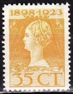 1923 Jubileumzegels 35 Cent Bruingeel Tanding 11 X 11½ NVPH 127 B Ongestempeld - 1891-1948 (Wilhelmine)