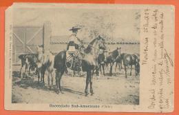HC723, Hacendado Sud - Americano ,  Circulée 1907 , Cowboy , Précurseur - Cile