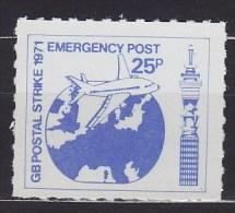 1971 ROYAUME-UNI United Kingdom EMERGENCY POST STRIKE ** MNH Avions Airplane Aircraft Flugzeug  [BJ72] - Airplanes