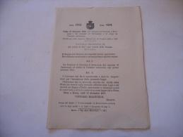 FRAZIONE BORSANO COMUNE DI SACCONAGO  REGIO DECRETO 1912 - Decrees & Laws