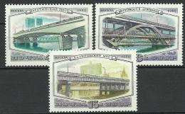 RUSSIA Soviet Union 1980 Brücken Bridges Michel 5023 - 5025 MNH - Ponti