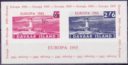 10984# DAVAAR ISLAND EUROPA 1965 PHARE LIGHTHOUSE LEUCHTTURM BLOC NEUF ** - Local Issues