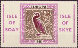 10987# ISLE OF SOAY ISLE OF SKY EUROPA 1965 CORMORANT CORMORAN OISEAU TIMBRE GRAND FORMAT NEUF ** - Local Issues