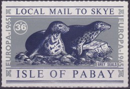 10989# ISLE OF SOAY ISLE OF SKY EUROPA 1966 GREY SEALS PHOQUE GRIS TIMBRE GRAND FORMAT NEUF ** - Local Issues