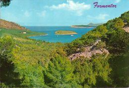 1 AK Spain Spanien Mallorca * Ansicht Der Bucht Formentor Mit Vorhelagerter Insel - Karte Ist Gelaufen - Mallorca