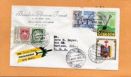Ecuador Old Air Mail Cover Mailed To USA - Equateur