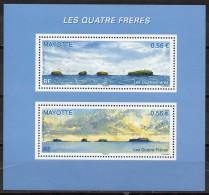 Mayotte - 2009 - Les Quatres Frères - Yvert N° BF 6 - 228 & 229 ** - Briefe U. Dokumente
