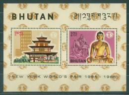 Bhutan - 1965 World's Fair Block MNH__(TH-10737) - Bhutan
