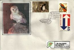 USA. E Hibou, Enveloppe Souvenir Du Milwaukee County Zoo, Wisconsin - Gufi E Civette