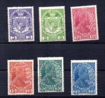 1917  Armoiries, Prince Jean II, 4 / 9**, Cote 48 € - Liechtenstein