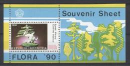 Indonesia - 1990 Plants Block MNH__(TH-1194) - Indonesia