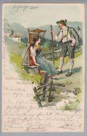 Motiv Gruss Aus Den Bergen 1899-09-11 Wiesenthal Litho #7126 - Souvenir De...