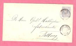 NEDERLAND OMSLAG 5 CENT WILLEM III Gebruikt 27,04,1904 - Postal Stationery