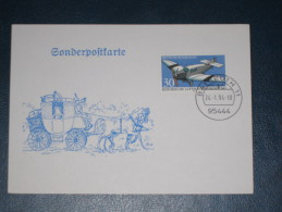 Karte Germany Bund Sonderstempel 1994 Bayreuth 95444 Post Postkutsche Pferd Horse Pferde - Affrancature Meccaniche Rosse (EMA)