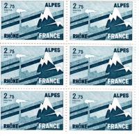 1977- Régions Rhône-Alpes  - Planche De 6 Timbres N° 1919 - France